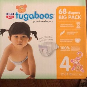 NEW. Size 4 diapers. 22-37lbs (10-17kg)